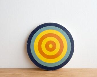Target Wall Art, Circle Wall Decor, Target Art, Bull's Eye Art, Archery Target Art, Target Wall Hanging, Blue/Yellow/Orange,