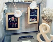 """Two (2) """"Wedding"""" and """"Thank You"""" Signs  HANDPainted"""