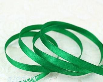 Green Ribbon Terylen Lace Trim 0.23 Inch Wide 22 meters