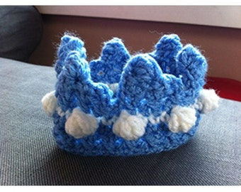 Newborn Photo Prop Crown - Pink or Blue