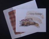 Birthday card - male - back to the 50's