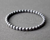 Extra Skinny Bead Ring, Silver Stacking Ring, Sterling Silver Ring - Made to Order