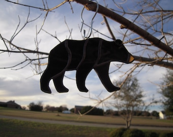 Stained Glass Black Bear