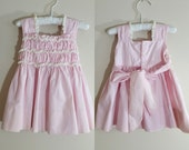 Vintage 1950s Lilac Baby Dress / Summer Sundress / 12 Months