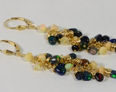 Long Chandelier Earrings Ethiopian Welo Opal Earrings Dangle, Drop Earrings, 14K gold filled Jewelry