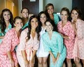 Bridesmaid Robes. Kimono Robe. Kimono. Bridal Robe. Wedding. Sonoma Farm House Collection. Choose Your Fabric. Knee Length.