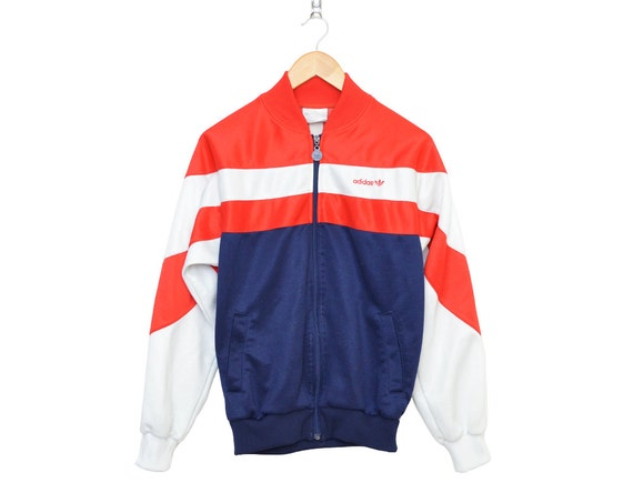 veste adidas bleu rouge blanc
