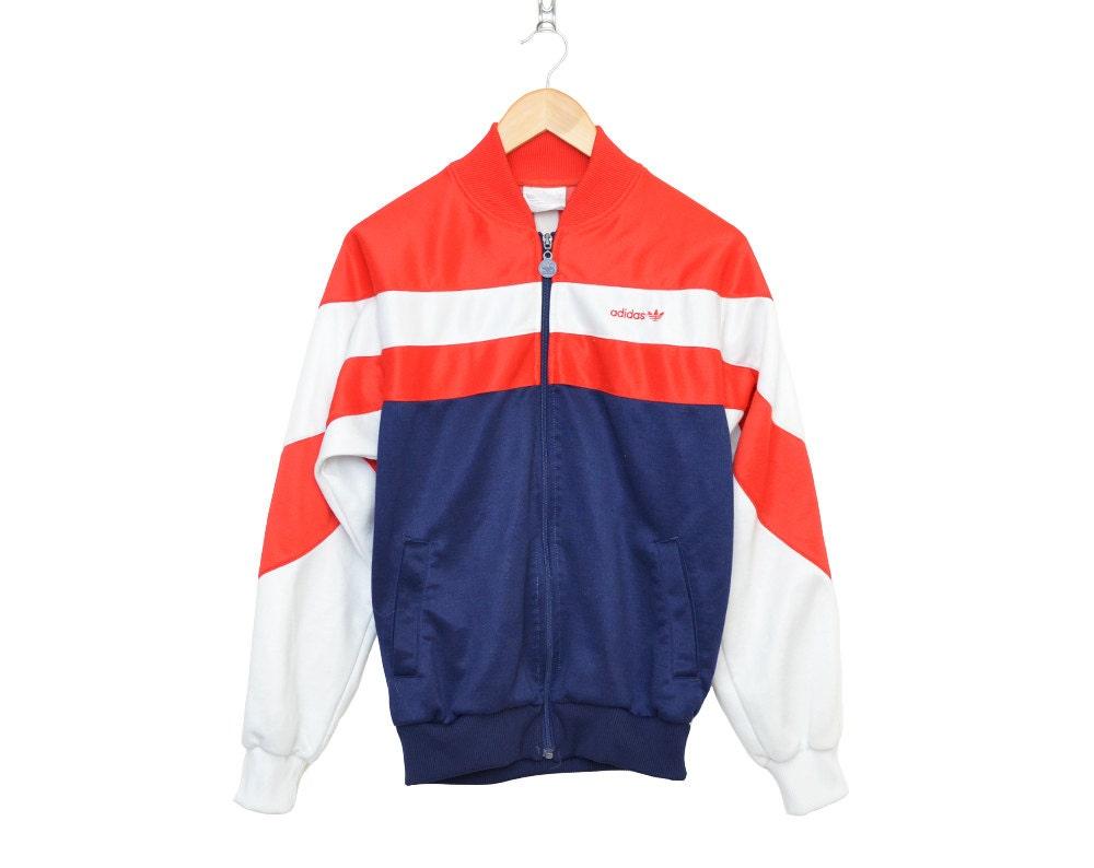 Veste veste De Jogging Vintage Rouge Vintage Adidas awrqaS0