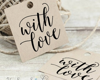With Love - Printable Favor Tags - Hand Calligraphy