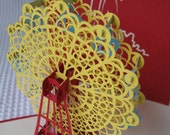 3D  Pop Up Ferris Wheel Greeting Card - Birthday Card - Pop Up Card - Thank You Card - 5 Colours to choose