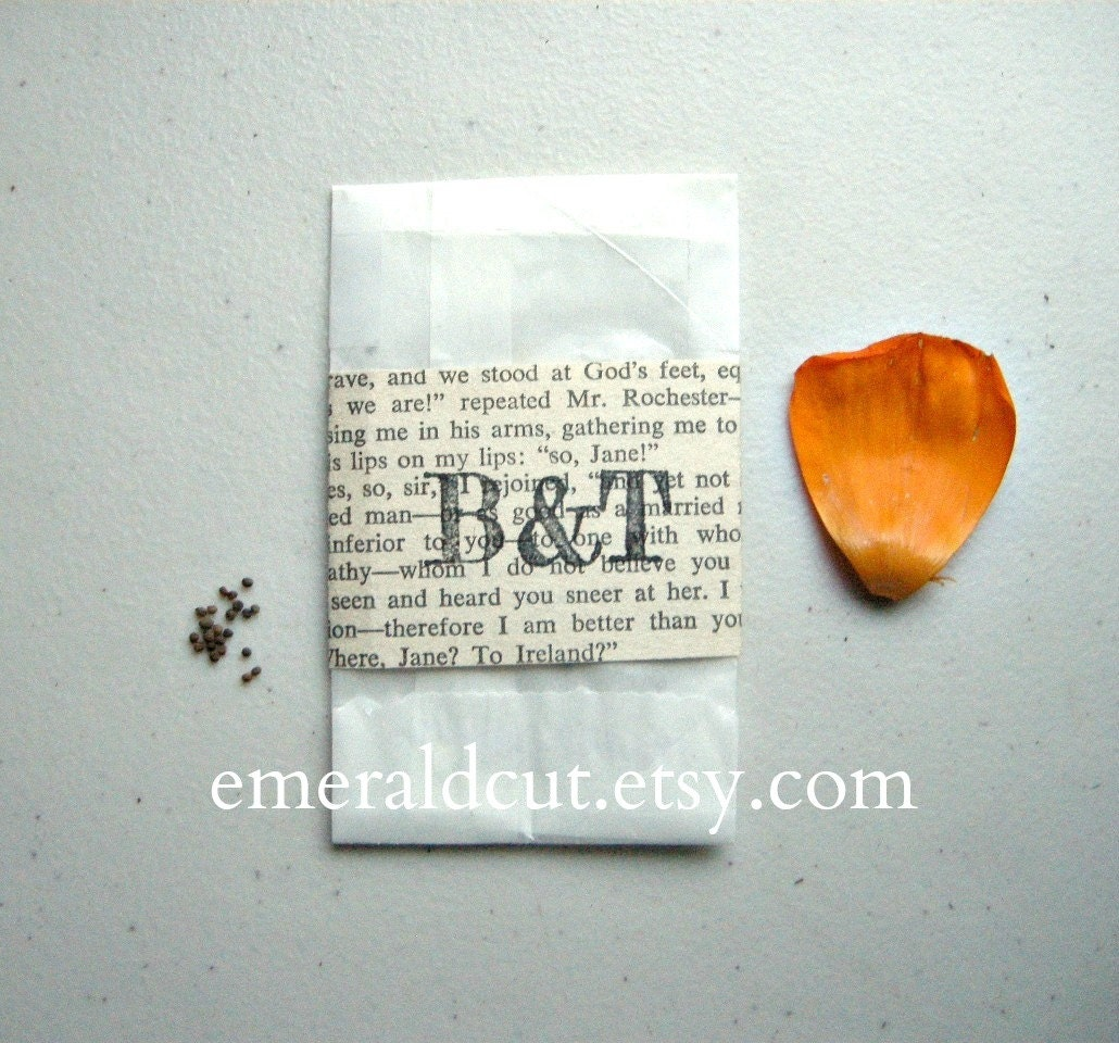 SALE Rustic Wedding Favor Seed Packets With Custom Stamped