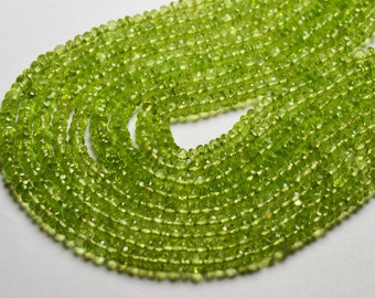 13.5in 2.5mm to 3mm Peridot faceted beads per003