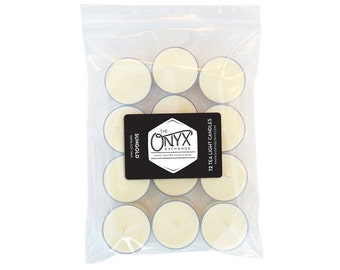 Sungold - Lime, Geranium, Honey and Rose Scented - 12 Pack Tea Light Soy Candles