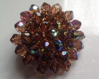 Crystal aurora borealis brooch         VJSE