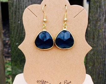 Gorgeous blue faceted earrings