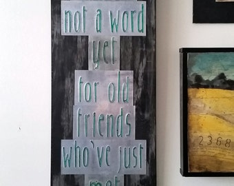 Recycled Pop Can Friends Quote Rustic Upcycled Wall Art
