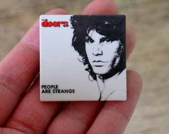 Vintage 1980s DOORS Jim Morrison People Are Strange Button.retro. kitsch. band.  rock and roll. flair. music. light my fire. doors fan. rock