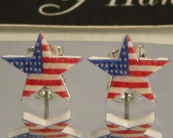 Stars and Stripes American Flag Stud earrings