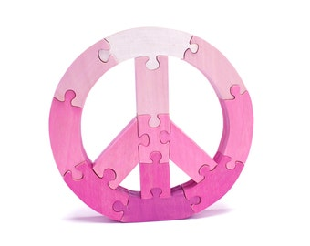 Pink Peace Decor and Puzzle - Childrens Toy