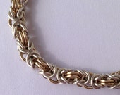 Gold Filled and Sterling Silver Chainmail Bracelet