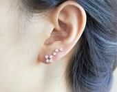Big Dipper Ear Climber, ear cuff/ choose your color, gold, silver