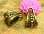 20 pcs Pendant Bails Nickel Free Antique Bronze Necklace Clasps CH2020