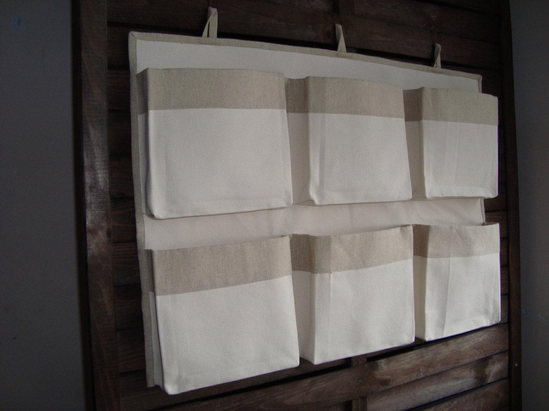 Canvas crib storage caddy organizer linen nursery organizer for Nursery hanging storage