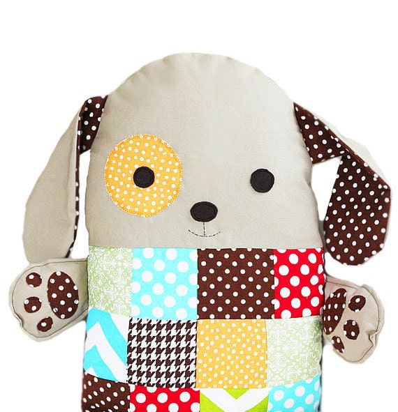 Sew A Cute Puppy Pillow Softie : Items similar to Patchwork Sewing Pattern Stuffed Toy Dog Pillow PDF Sewing Pattern on Etsy