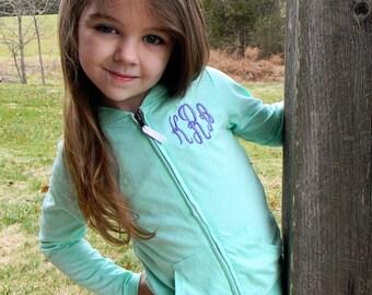 Monogrammed Jacket- Monogrammed Hoodie- Embroidered Jacket- Infant, Toddler, Girls Jacket