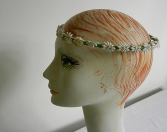 """Handmade Yellow Daisy Floral 24"""" Crown with Yellow Crinoline Bow with comb"""