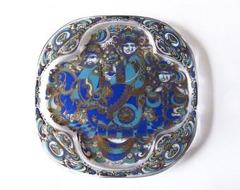 Vintage Bjorn Wiinblad Christmas Glass Plate 1978 in Original Box -  Rosenthal