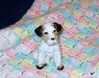Vintage Cute Little Dog Figurine, About 4 Inces Tall