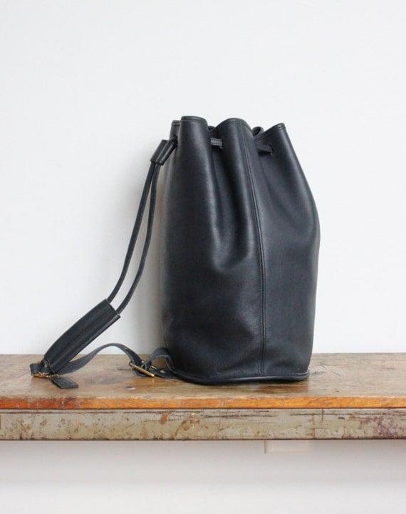 RESERVED Vintage Coach Drawstring Bag XL // Coach Bucket Bag