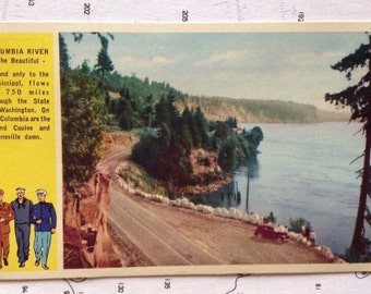 Columbia River Wa Postcard Returning US WWII Veterans