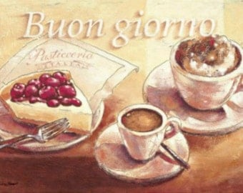 Buon Giorno - Cross stitch pattern pdf format