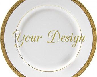 Customizable Plates Custom Dinnerware Customizable Dishes Personalized Plates Personalized Dishes Bespoke  sc 1 st  Etsy & Cobalt Dinner Plate 10.5 Vintage Skull Plate