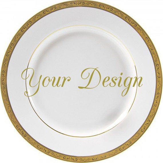 RESERVED - 3 Custom Personalized Dinner Plates 10.5  Foodsafe  sc 1 st  WTF Porcelain & RESERVED - 3 Custom Personalized Dinner Plates 10.5