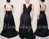 New Convertible Bridesmaid Dress Style!  High-Low Convertible Dress- Bridesmaids, Prom, Party, Formal Dress