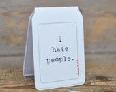 I Hate People Travel Card Holder