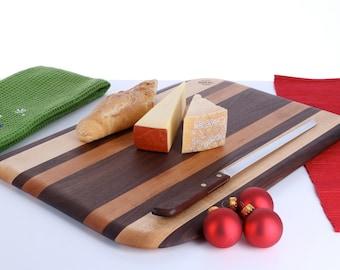 Bread & Cheese Board Cutting Board Maple Walnut and Cherry
