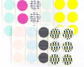 Starburst Stickers in Stripes, Pineapples,Love, perfect for happy mail, planners, scrapbooking & organization
