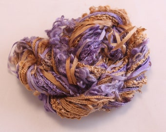 copper eggplant purple Silk embroidery Thread Silk ribbon sewing Hand Dyed Variegated quilting thread weaving yarn fibre art embellishment