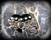 Black Heart Lock,  heart  lock, working lock, lock and key  Love Lock