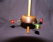 Beaded Walnut Whorl Tibetan Compromise Support Spindle