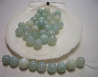 Natural Amazonite beads 6mm, round, blue Amazonite beads, light blue amazonite, 6mm natural gemstone beads, 6mm beads, blue, sea foam blue