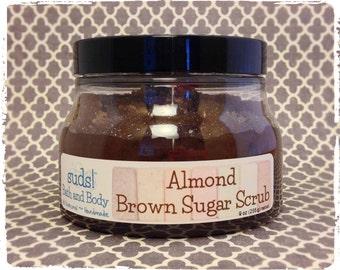 Almond Brown Sugar Scrub - All Natural Sugar Scrub, Exfoliating Sugar Scrub, Gift Ideas for Her