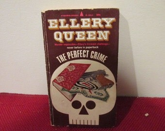 Vintage Paperback Book The Perfect Crime by Ellery Queen