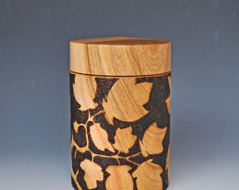 Japanese Style  Box with Pyrography
