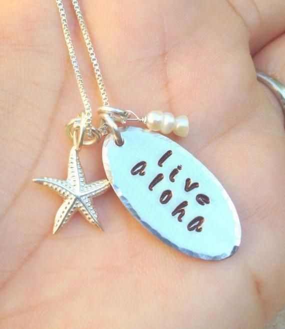 Wedding Gifts From Hawaii: Live Aloha Hawaiian Wedding Necklace Hawaiian Necklace