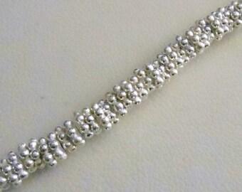 Bright Silver Daisy Spacer - 4mm - .999 Silver Over Copper